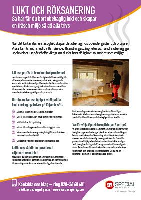 Produktblad Lukt & Röksanering Specialrengöringar Sverige.