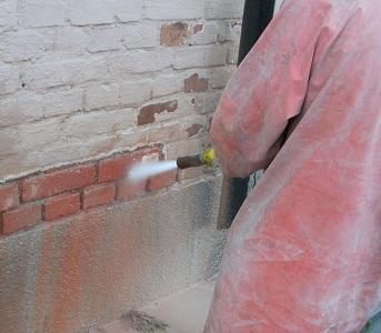 Torboblästring av målat tegel