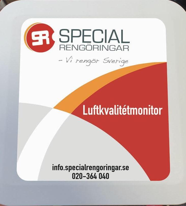 Luftkvalitetmätning Specialrengöringar Sverige.