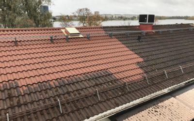 Fasadtvätt och taktvätt för Karlstadhus nr 1