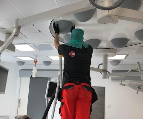 Universitetssjukhuset Malmö – ventilationsrengöring av operationssal